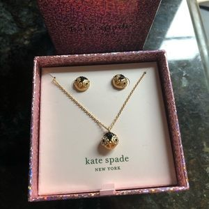 Kate Spade Pave Penguin Earring/Necklace Set BNWT